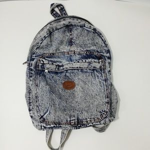 Vintage 80s 90s Acid Wash Backpack